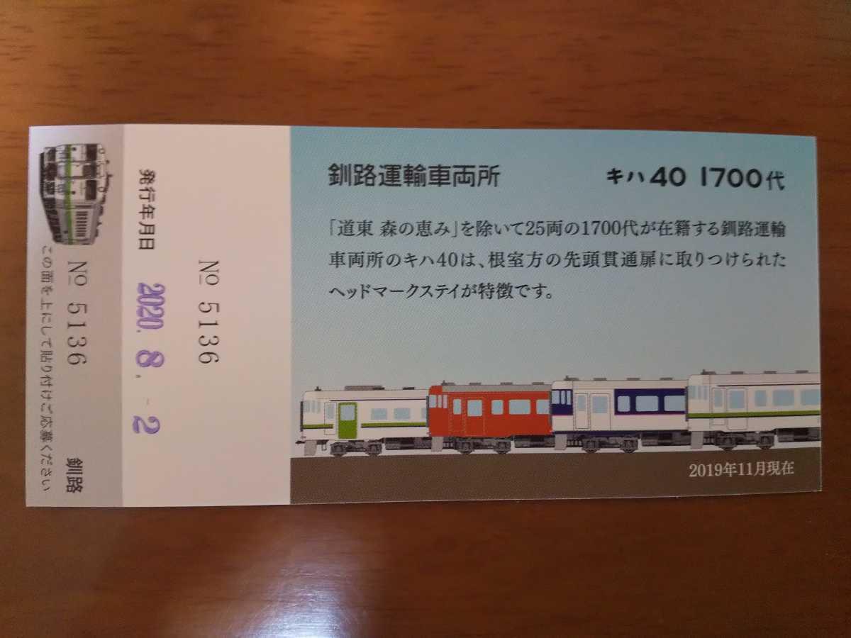 JR北海道 [北の40]記念入場券 釧路駅_画像2