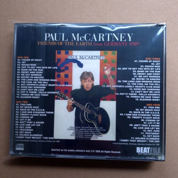 new!! BFP-160CDR1/2/3/4: PAUL McCARTNEY - FRIENDS OF THE EARTH FROM GERMANY 1989_画像2