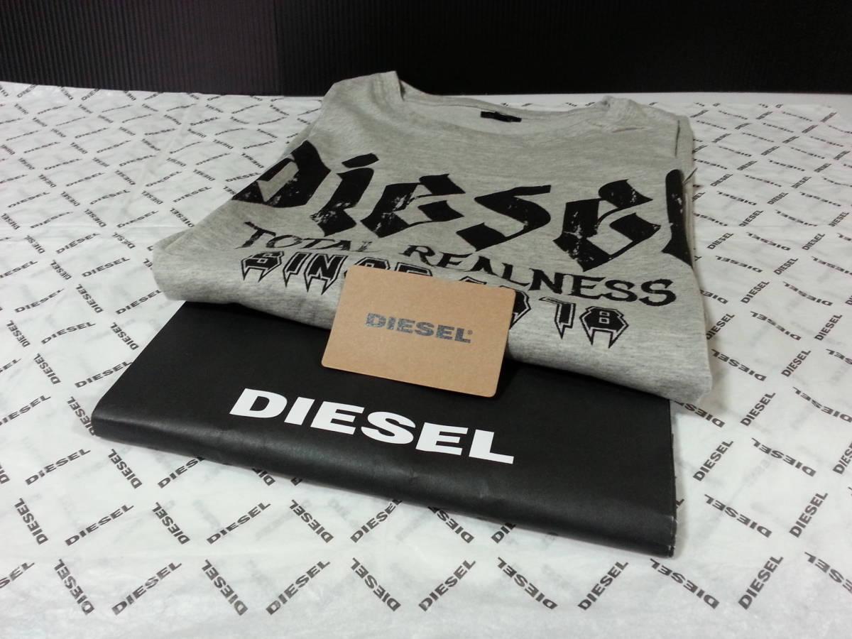 DIESEL ディーゼル 新品 USA 正規店様購入 ロゴデザイン 半袖 Tシャツ 日本サイズ LからXL程度の方 海外 L タグ付き