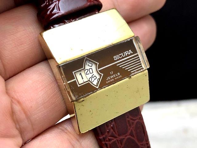 送料無料 670/70's スイス SICURA シクラ メカデジ 手巻き オールド アンティーク ビンテージ_画像1