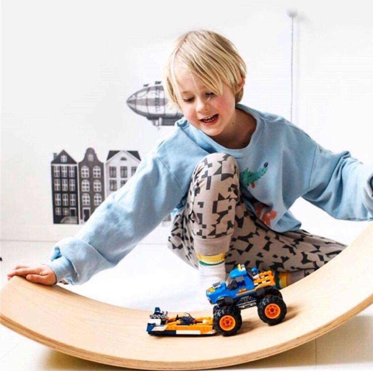 木製バランスボード 踏み台 子供向け 乗用玩具 アウトドア 知育玩具 ダイエット