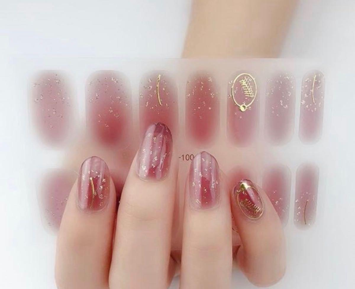 ジェルネイルシール 赤、ピンク系 17枚セット 新品未開封品 爪やすり付き