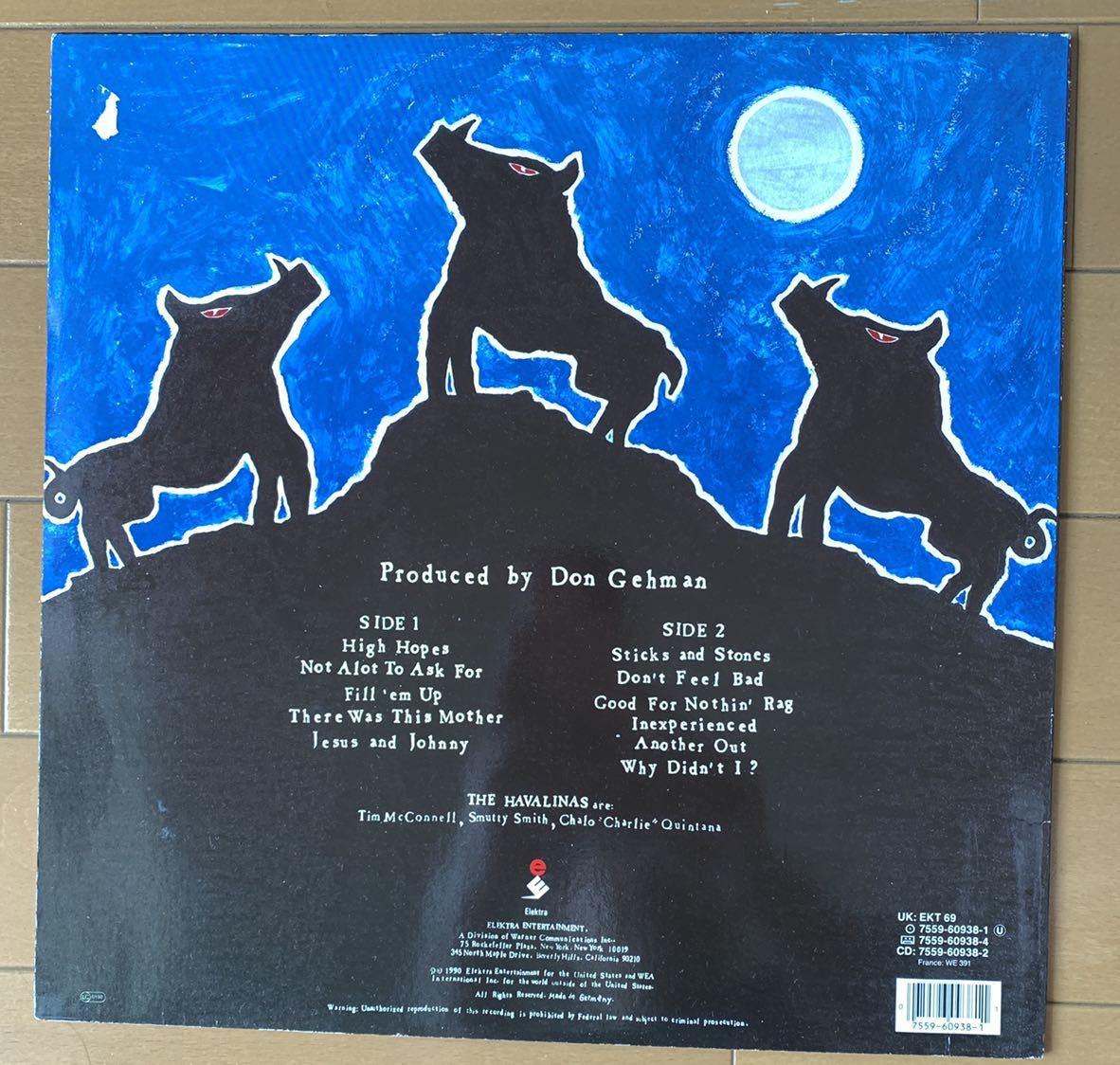 【値下】THE HAVALINAS LP ネオロカ 検ROCKATS、SMUTTY SMITH ロカビリー、サイコビリー、 名曲HIGH HOPES収録 レア_画像2