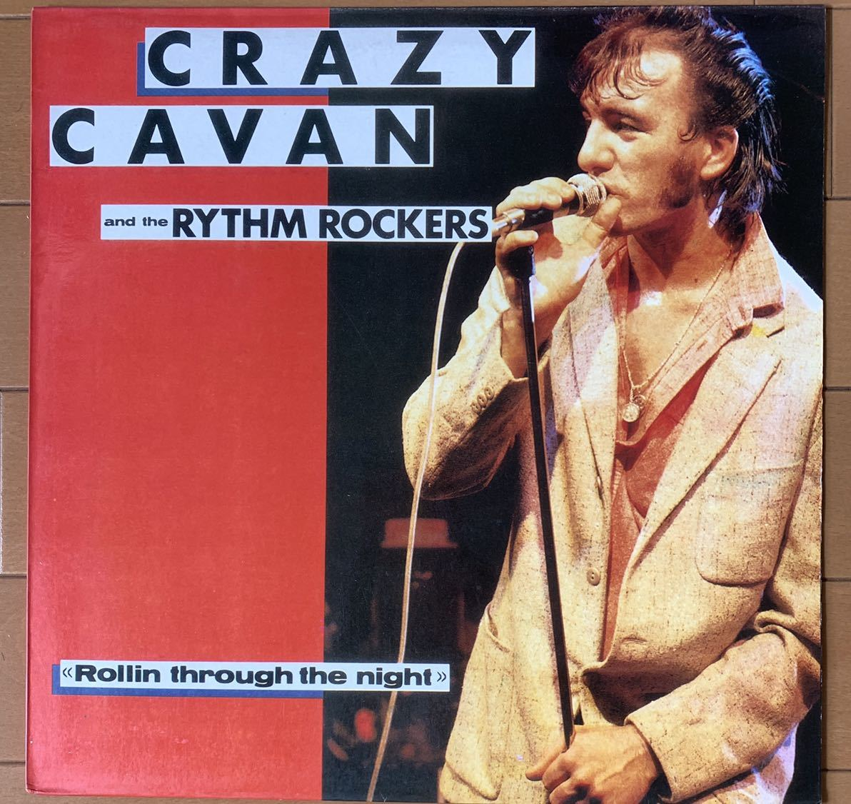 【値下】CRAZY CAVAN and the RYTHM ROCKERS テッズ LP Rollin through the night ロカビリー ネオロカ teds 検Cavan Grogan テディボーイ_画像1