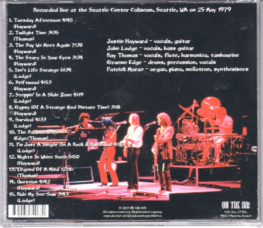 The Moody Blues ムーディ・ブルース (featuring Patrick Moraz) - Live In Seattle 1979 CD