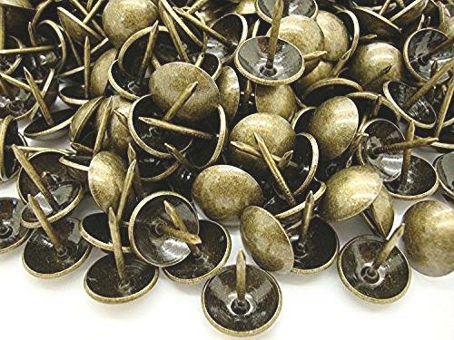 即決 未使用品 【神話広場】 太鼓鋲 17mm アンティーク ゴールド 鉄 製 スタッズ ピン 500個 セット_画像1