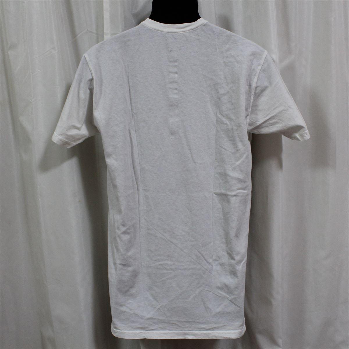 EFU メンズ半袖Tシャツ ホワイト 海外サイズのS ロング丈 新品 カナダ製_画像3