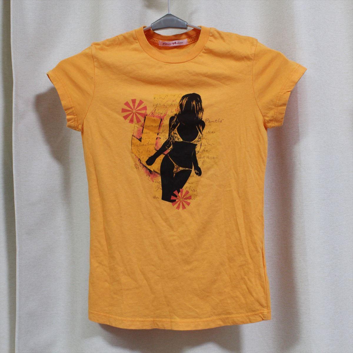 パメラアンダーソン Pamera Anderson レディース半袖Tシャツ オレンジ Sサイズ アウトレット 新品_画像1