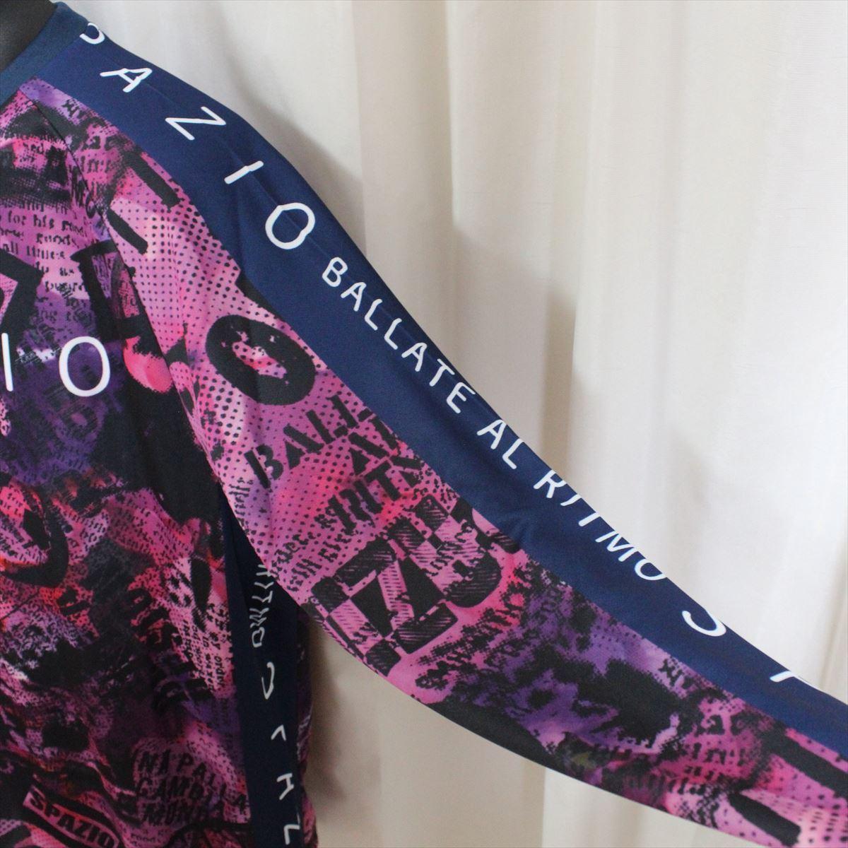 SPAZIO スパッツィオ メンズ長袖シャツ ホットピンク Sサイズ 新品 フットサル ロングスリーブ 吸水速乾 UVケア_画像3