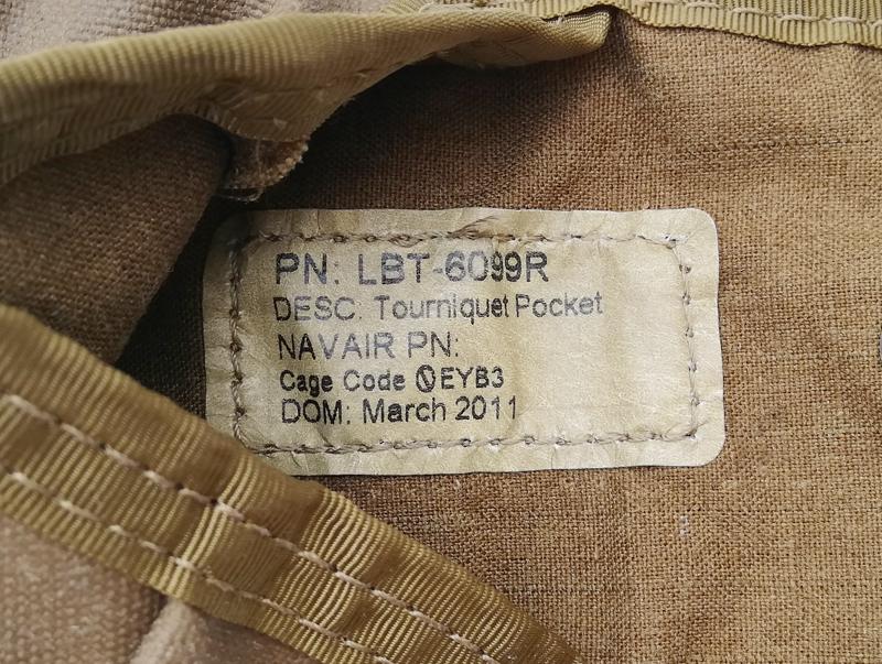 米軍実物 LBT-6099R ターニケット ポケット 止血帯ポーチ CB      (seals devgru marsoc 20e15_画像4