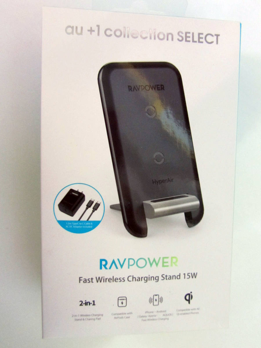 スタンド型 ワイヤレス充電器 2 in 1 Qi RP-WC003 (RS9P006K)iPhone、Android_画像2