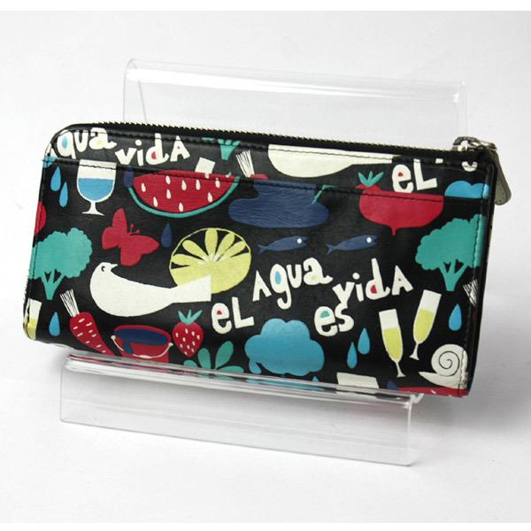 激レア!美品!ホコモモラ シビラ Jocomomola de Sybilla 二つ折り刺繍 長財布 ウォレット 200812bu05_画像1