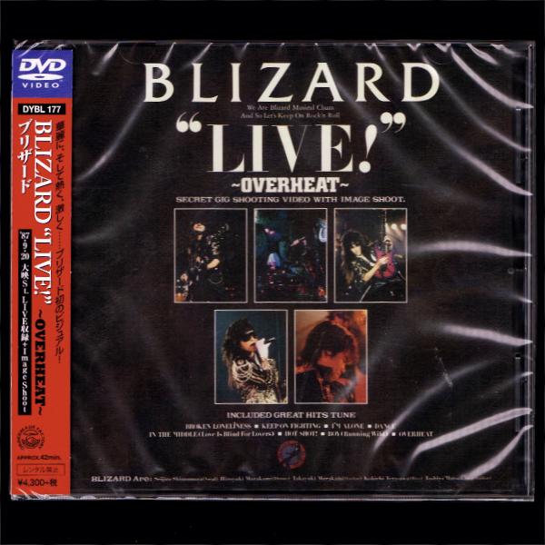 """【匿名送料無料】即決新品 BLIZARD """"LIVE!""""~OVERHEAT~/DVD/ブリザード_画像1"""