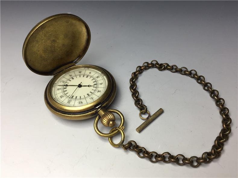アンティーク時計 懐中時計 手巻き 動作確認済み 鉄道 汽車紋