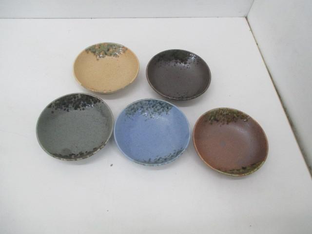 100☆iY★★美濃焼/志野焼・陶器製・小鉢5個セット・それぞれ色違い☆_画像1