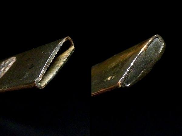【刀装具 #1065】 水戸系統の生まれ良き優品です! 丸草花図 赤銅地 象嵌 小柄 【検:刀剣/拵え】_画像8