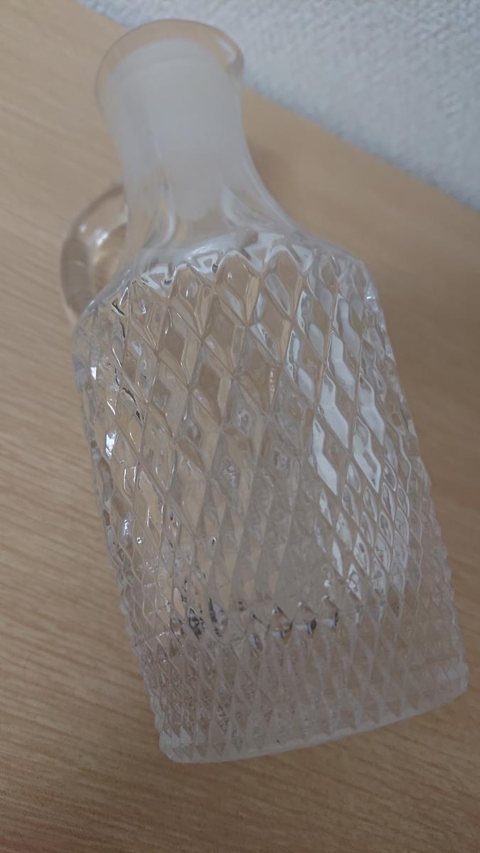 クリスタルガラス デキャンタ デカンタ ボヘミアン ウイスキー ブランデー バカラ風 水指し_画像3