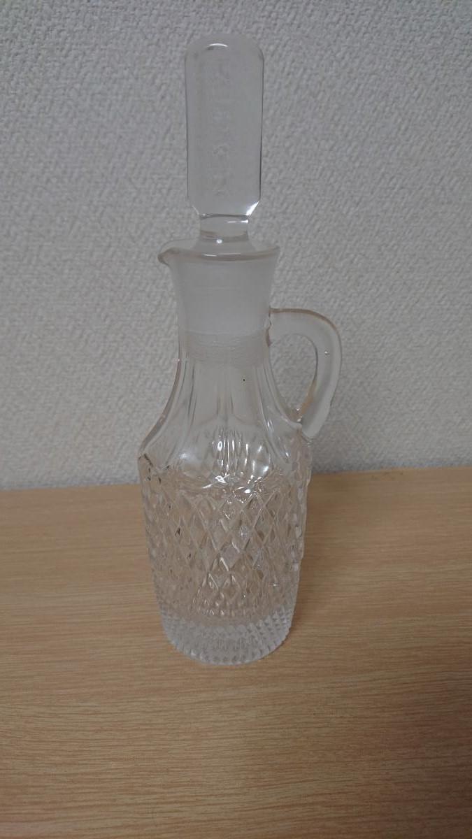 クリスタルガラス デキャンタ デカンタ ボヘミアン ウイスキー ブランデー バカラ風 水指し_画像1