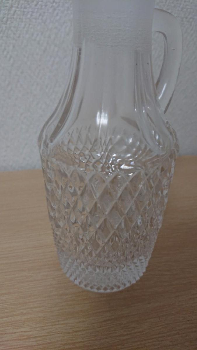 クリスタルガラス デキャンタ デカンタ ボヘミアン ウイスキー ブランデー バカラ風 水指し_画像5
