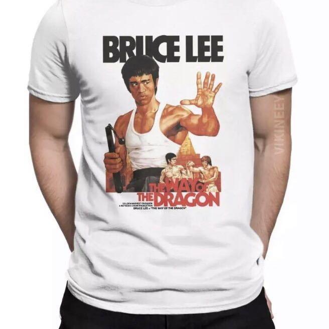 BRUCE LEE Tシャツ THE WAY OF THE DRAGON ブルースリー Tee ドラゴンへの道 李小龍_画像7