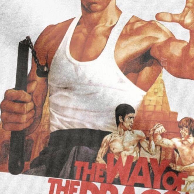 BRUCE LEE Tシャツ THE WAY OF THE DRAGON ブルースリー Tee ドラゴンへの道 李小龍_画像6
