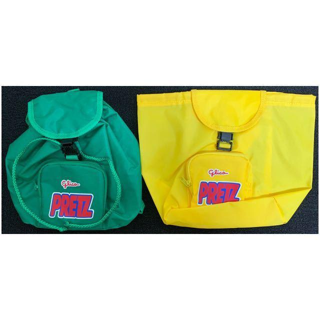 ◆ 非売品 当選品 懸賞品 新品 未使用 ◆ glico グリコ PRETZ プリッツ ミニリュック 2個セット バッグ 子供用_画像2