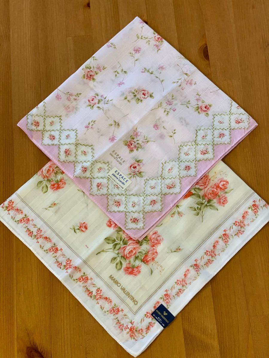 ブランド ハンカチ 2枚セット 花柄 綿100%  日本製 ハンカチセット