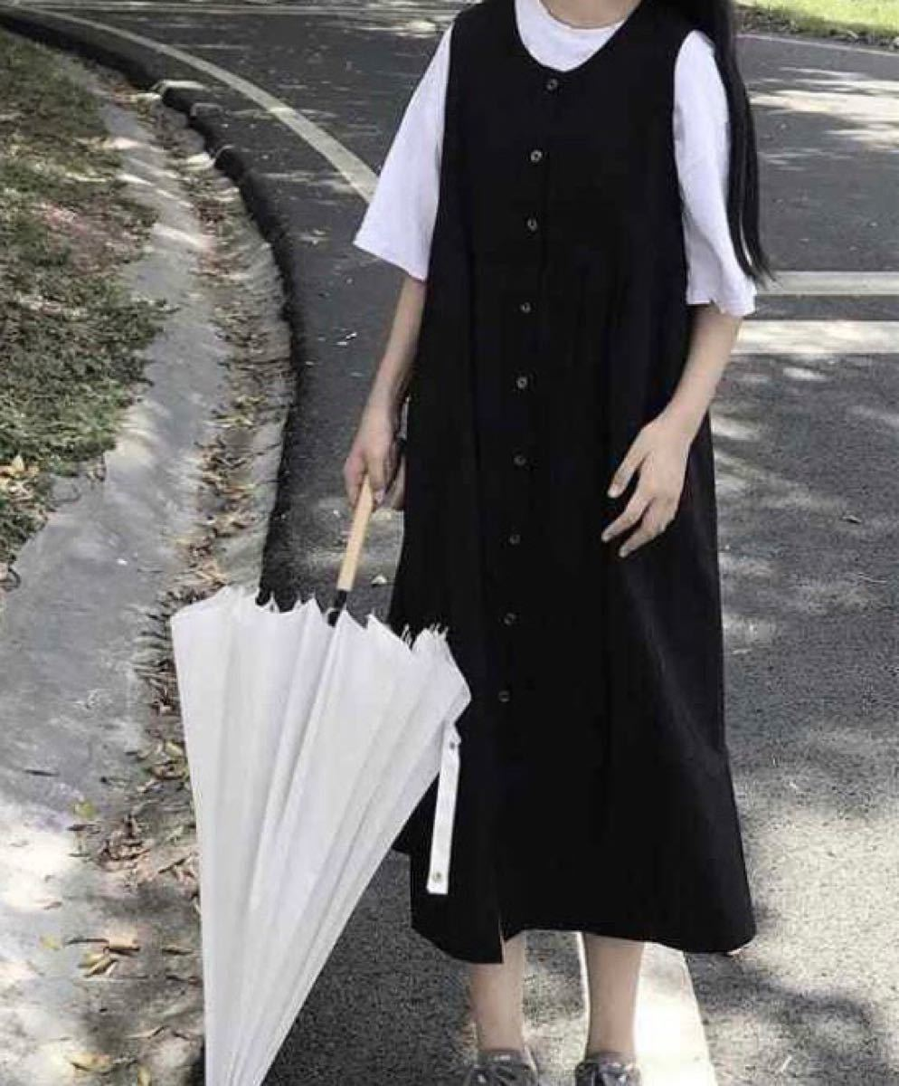 夏服 新品未使用 ノースリーブ Aライン ロング シャツ ワンピース 値下げ