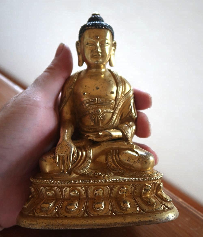 中国唐物 清時代 18世紀 銅製仏像 仏教美術
