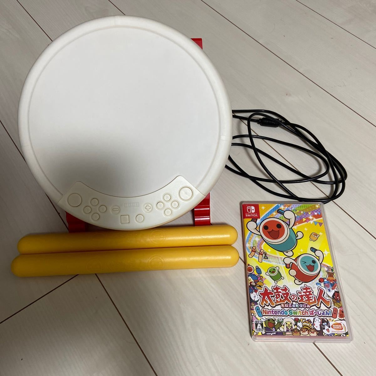 【Switch】太鼓の達人ソフト+専用コントローラー 太鼓とバチ