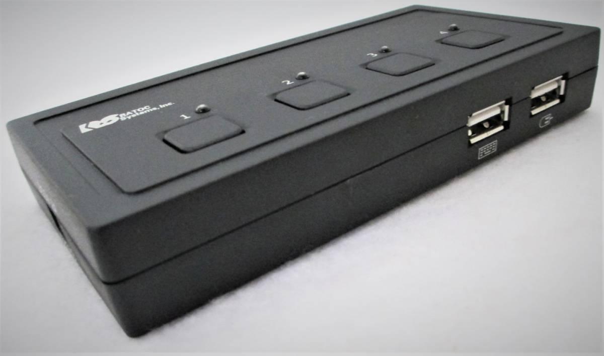 【RATOC】REX-430U 4台用パソコン自動切替器(USB接続) =元箱入り_【RATOC】REX-430U