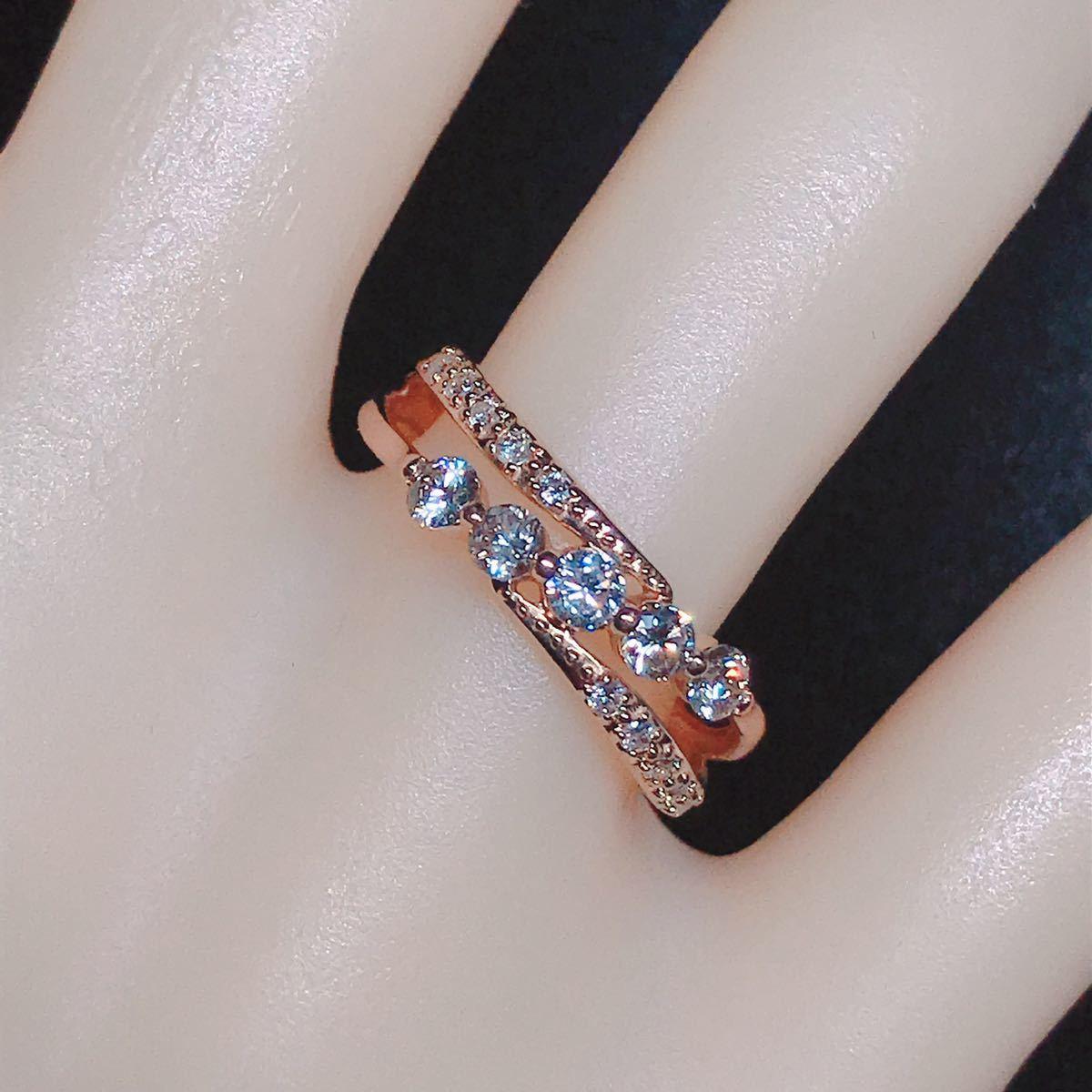 0.50ct ダイヤモンドリング K18 ダイヤ ウェーブ ミル打ち 上品 幅広_画像7