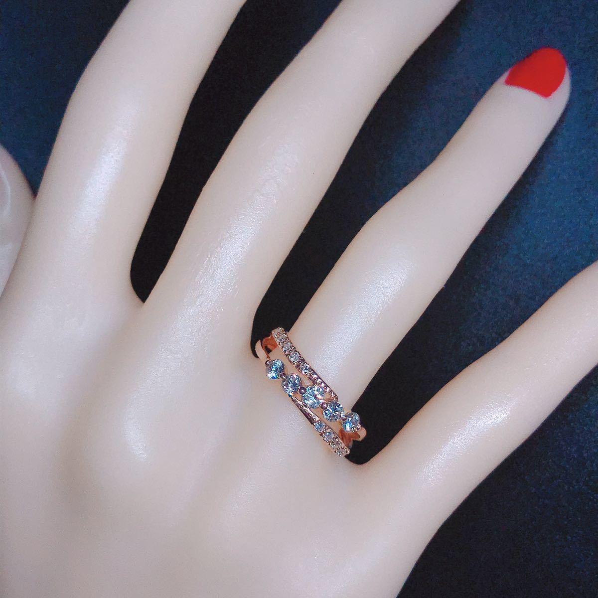 0.50ct ダイヤモンドリング K18 ダイヤ ウェーブ ミル打ち 上品 幅広_画像6