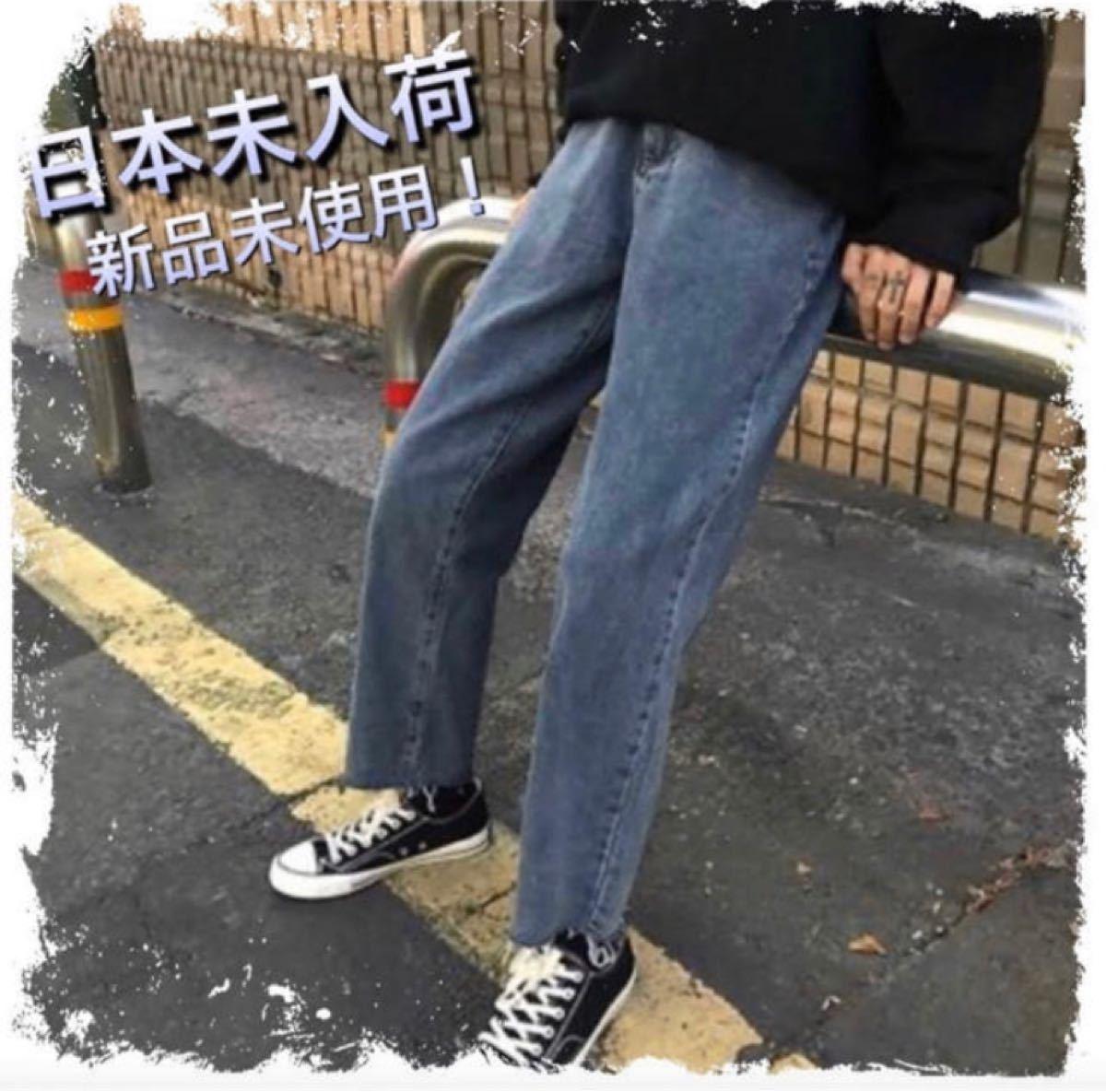 デニム ストレートパンツ ストリート メンズ Lサイズ