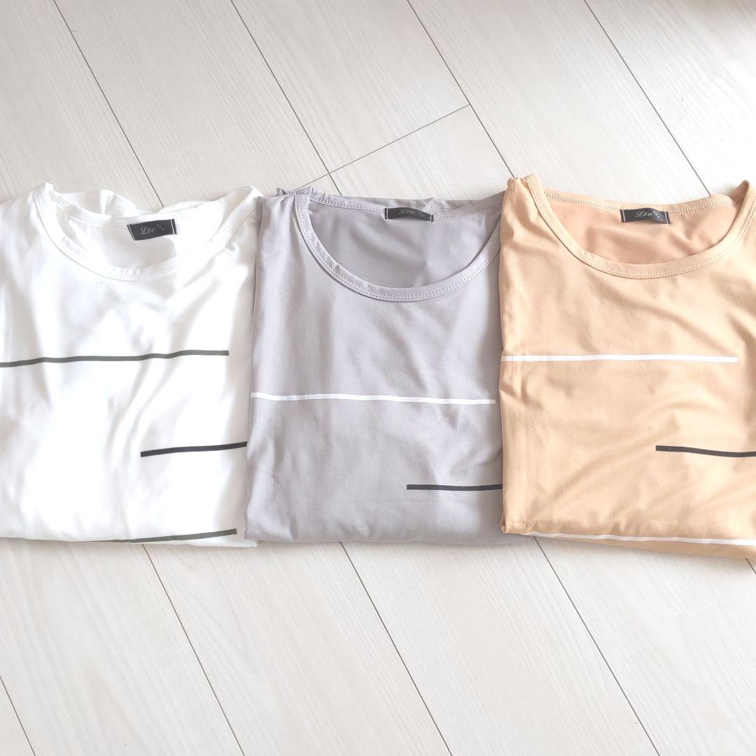 メンズ カットソー ロンT ボーダー Tシャツ