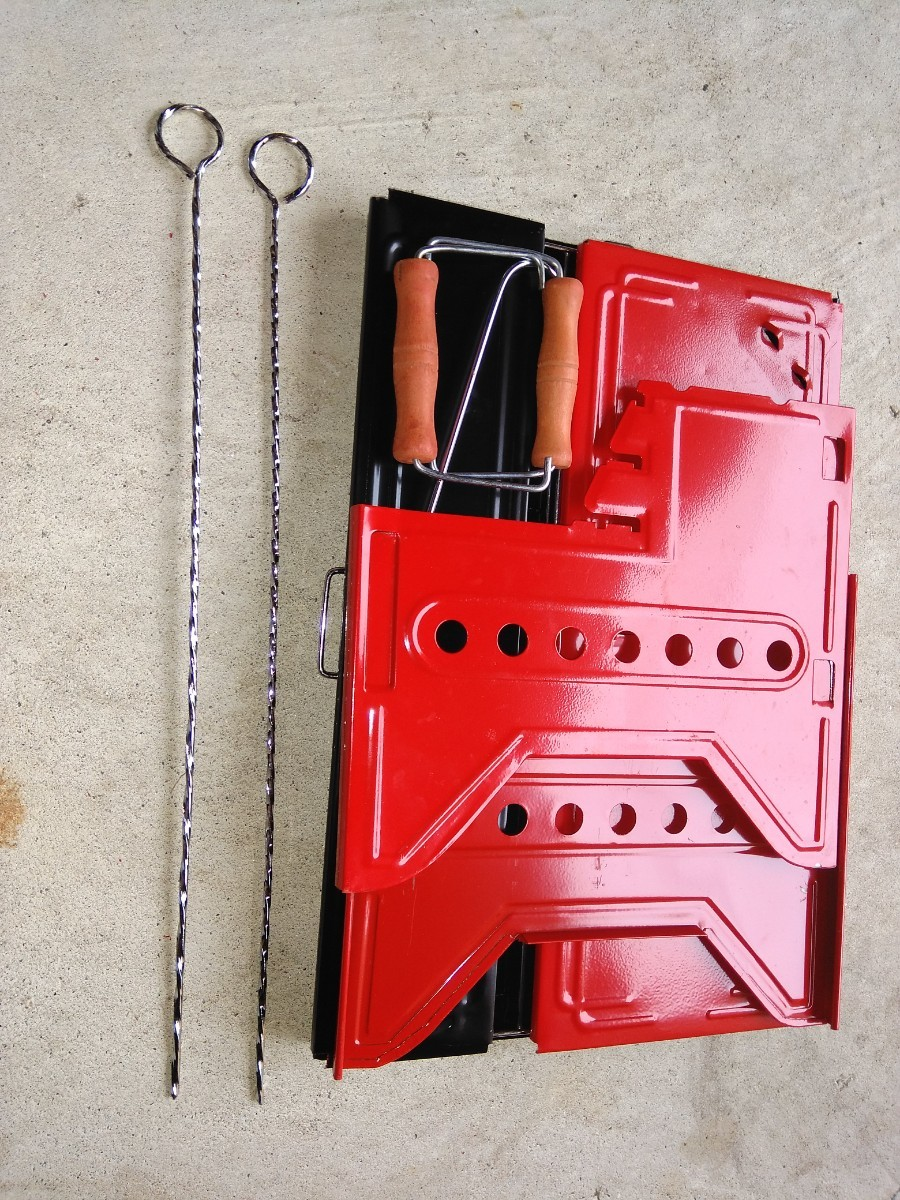 バーベキュー用コンロ 焚火台 グリル 折りたたみ式 組立式