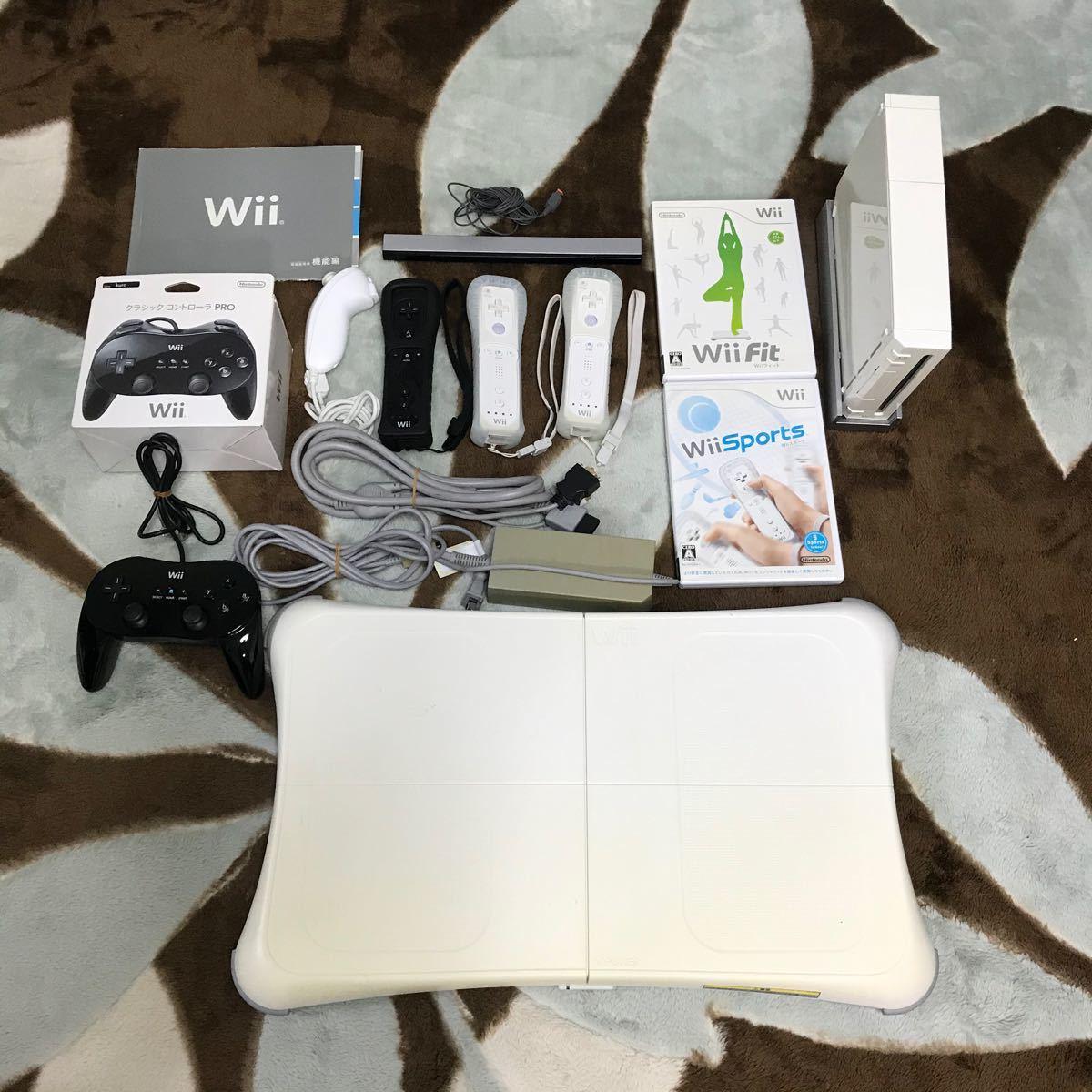 Nintendo Wiiセット&付属品&ソフト