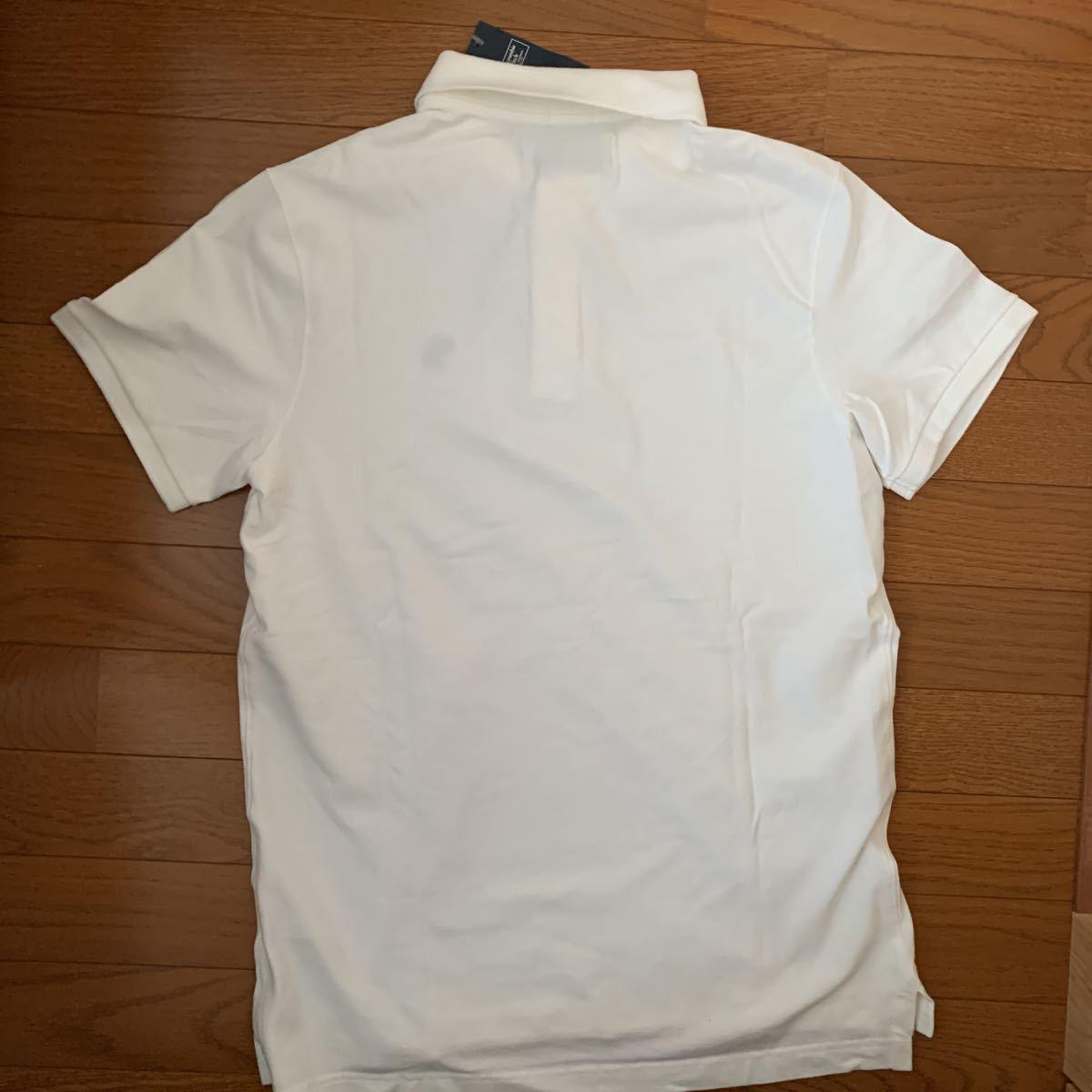 ☆アバクロ☆Abercrombie&Fitch☆半袖ポロシャツ☆Mサイズ☆白色☆未使用☆アバクロンビー&フィッチ☆タグ付☆ムース☆