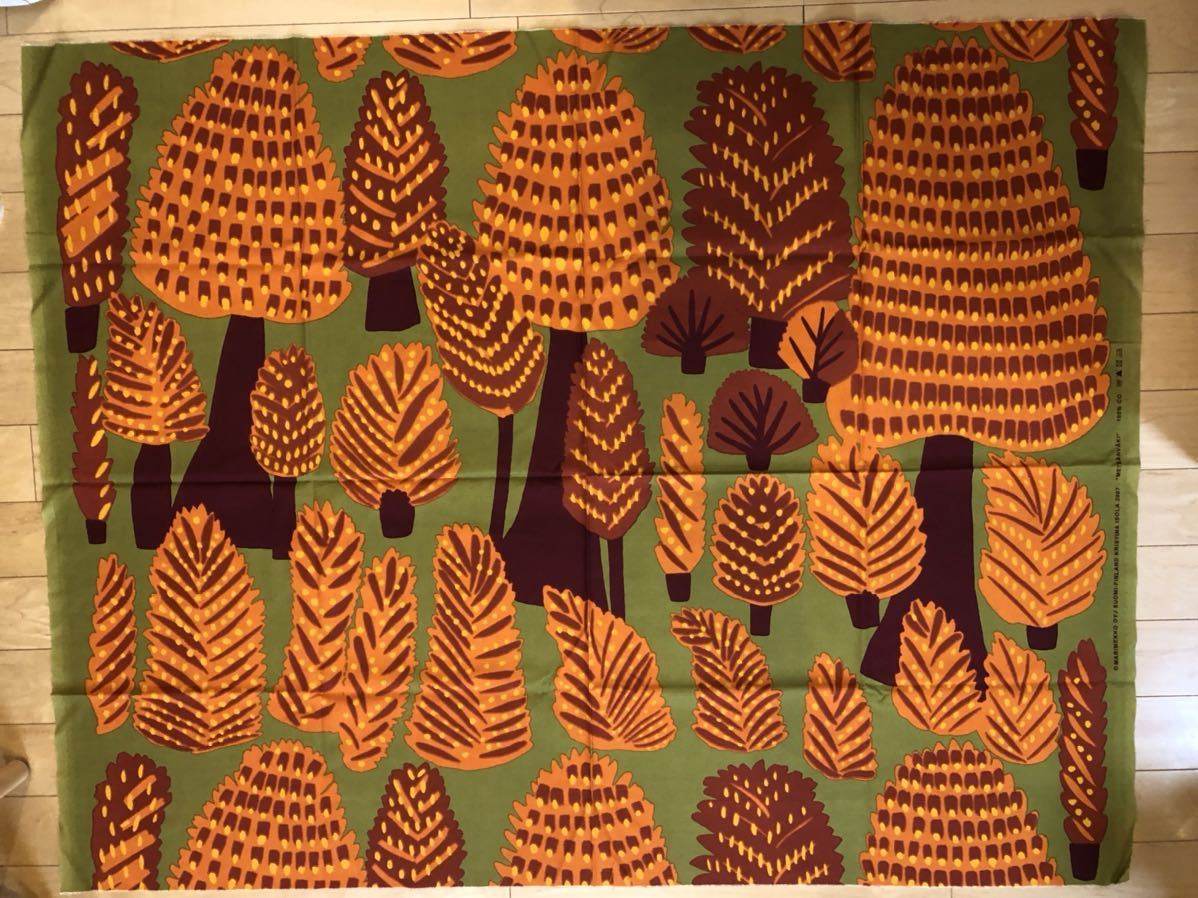 【Marimekko】 Marimekko Fabric Metsanvaki Fabric Metosan Vaki Vintage Orange