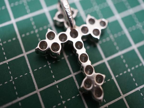 PT900 ダイヤ2.054ct クロスペンダントトップ 総重量5.8g_画像8
