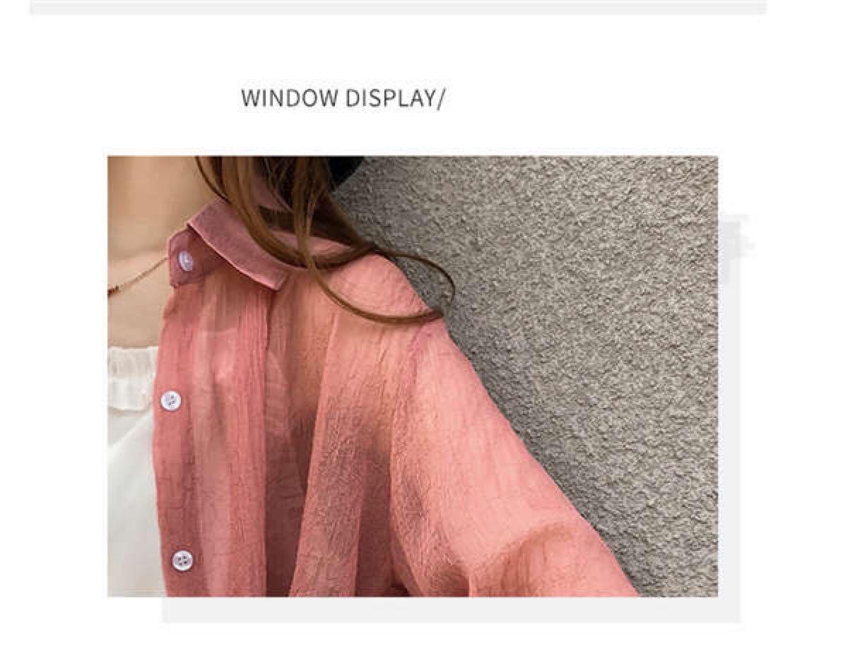シャツ ブラウス レディース 薄手 UVカット 羽織りカットソー トップス 新品