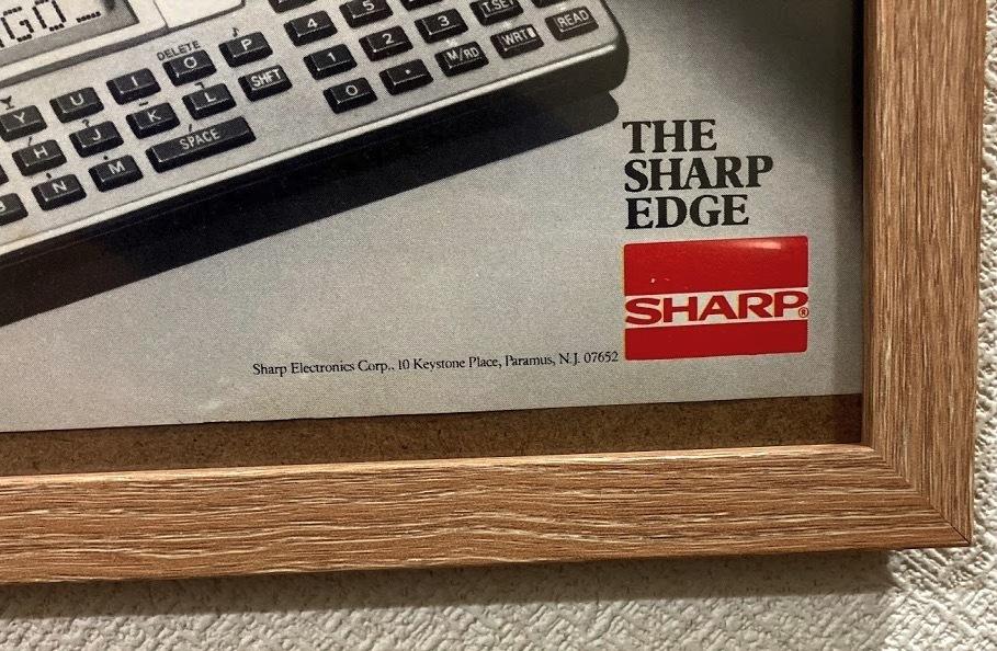 <レトロ広告> SHARP シャープ ポケコン? A4サイズパネル_画像3