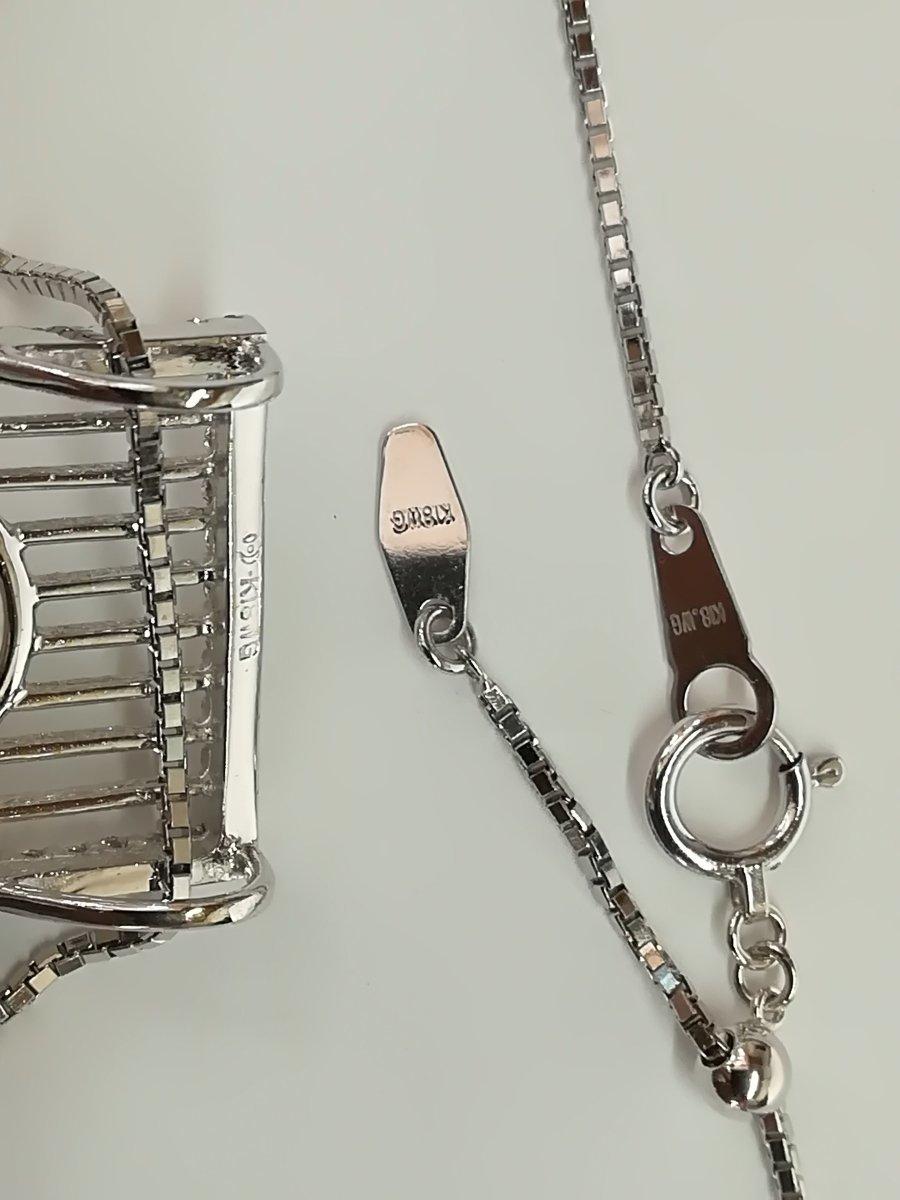 質屋出品【TASAKI】K18WG マベパール ダイヤ デザイン ネックレス 中古_画像6