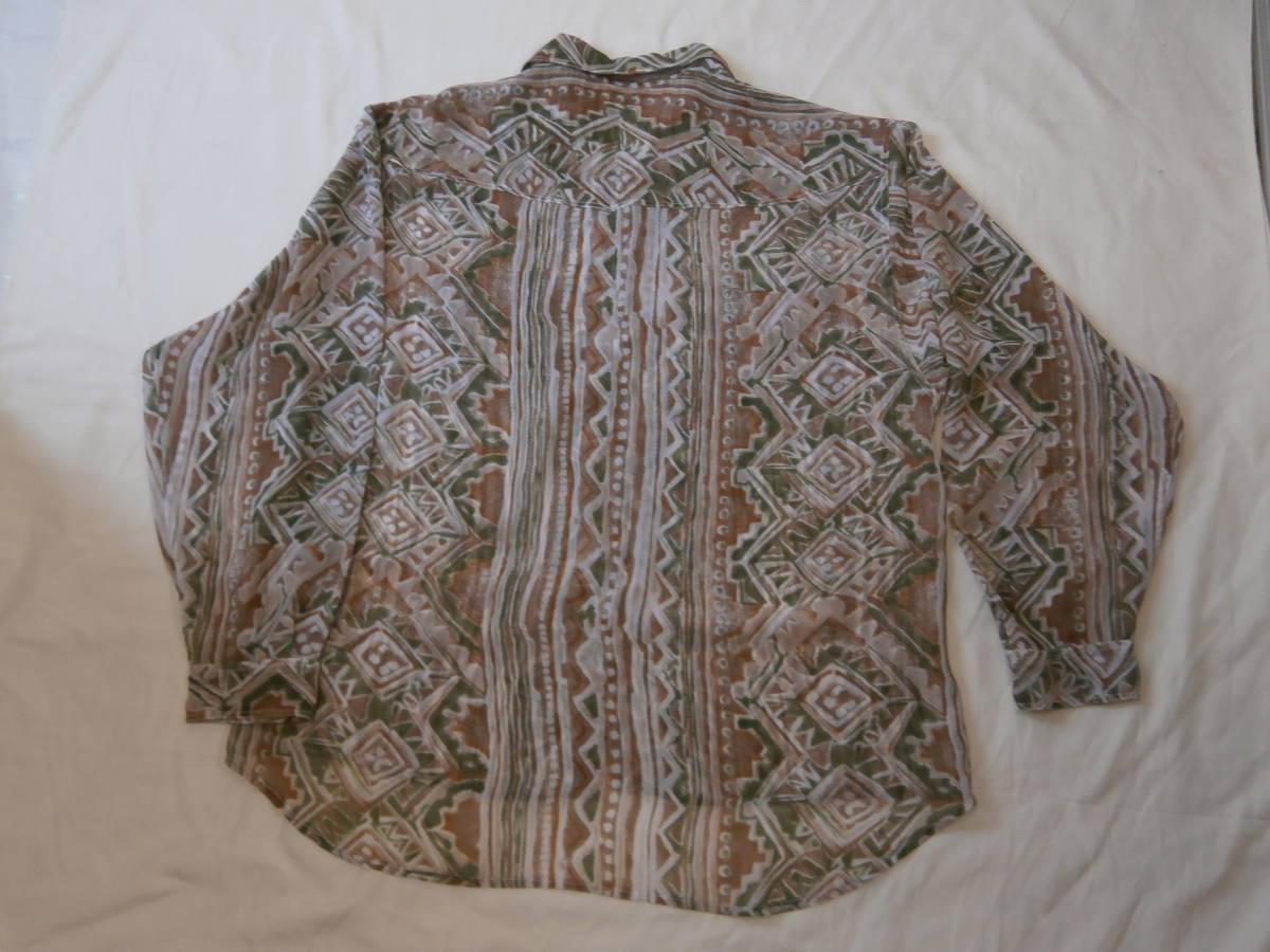 男女兼用 ジョーゼット長袖 ビックサイズシャツ
