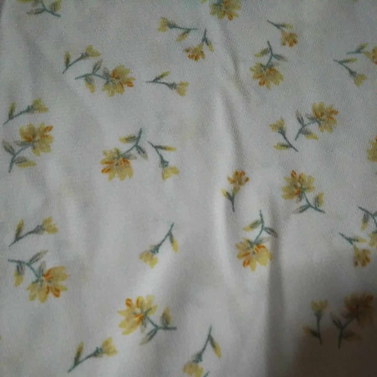 花柄 トップス半袖ロペ