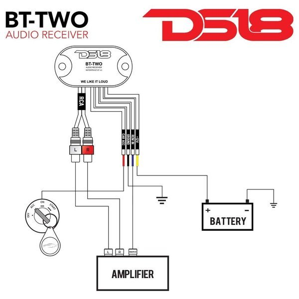 DS18 BT-2 Bluetooth 4.0 ブルートゥースレシーバー 防水仕様 スマートフォン対応_画像4