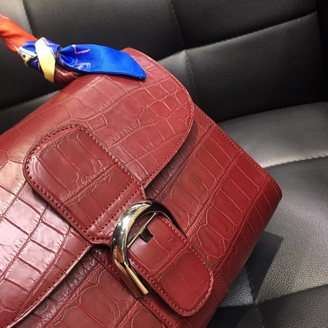 本革 クロコダイル ワニ革 腹部革センター ハンドバッグ ショルダーバッグ 斜め掛け 2wayバッグ 手提げ 鞄かばん レディース プレゼント_画像6