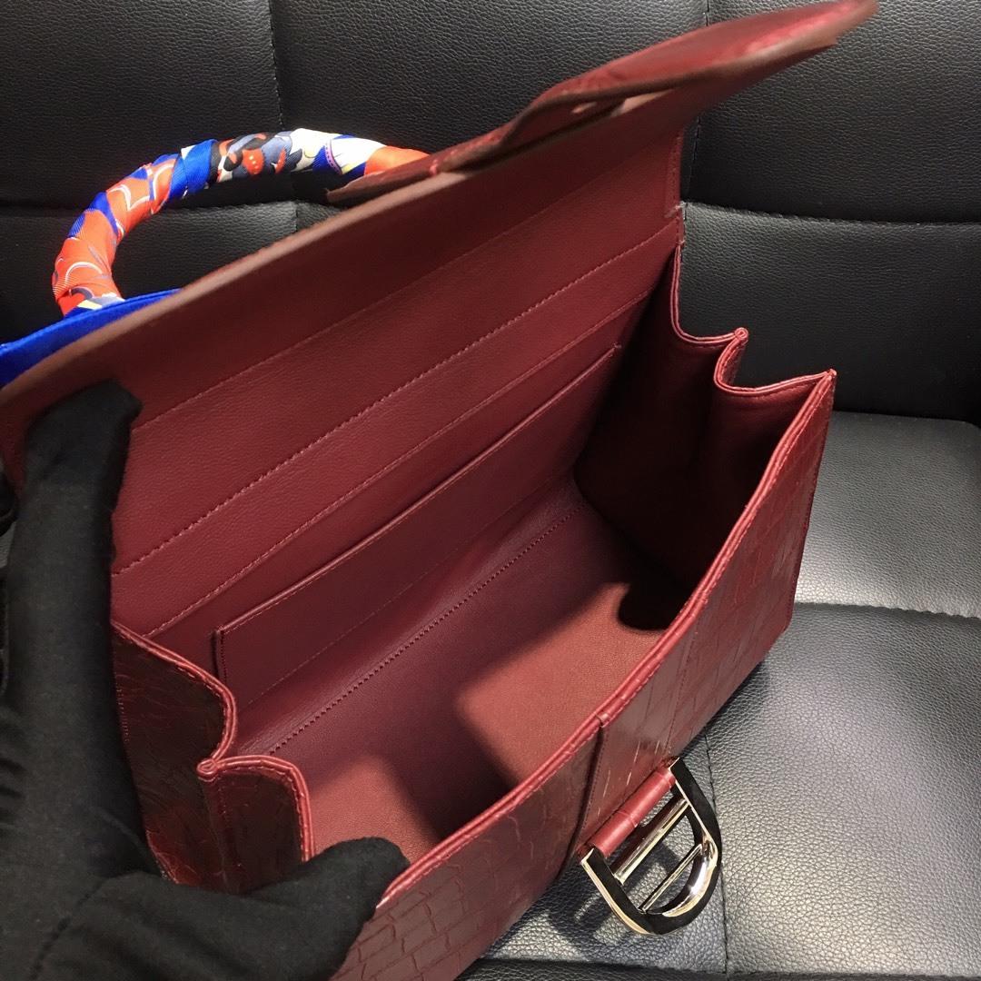 本革 クロコダイル ワニ革 腹部革センター ハンドバッグ ショルダーバッグ 斜め掛け 2wayバッグ 手提げ 鞄かばん レディース プレゼント_画像8