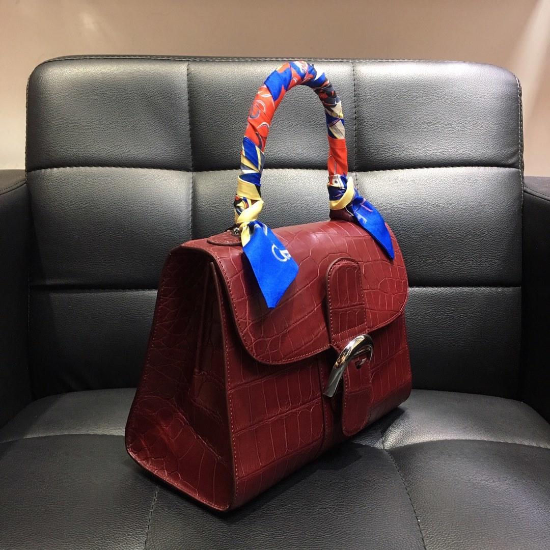 本革 クロコダイル ワニ革 腹部革センター ハンドバッグ ショルダーバッグ 斜め掛け 2wayバッグ 手提げ 鞄かばん レディース プレゼント_画像4