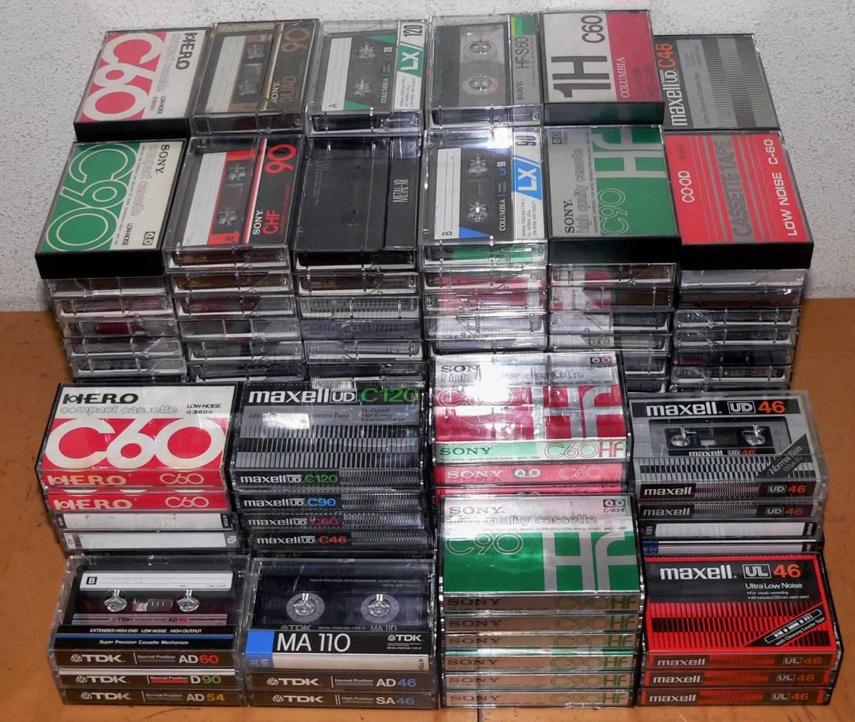 ★ 中古カセット テープ - 200本 / TDK、 SONY、maxell、他★